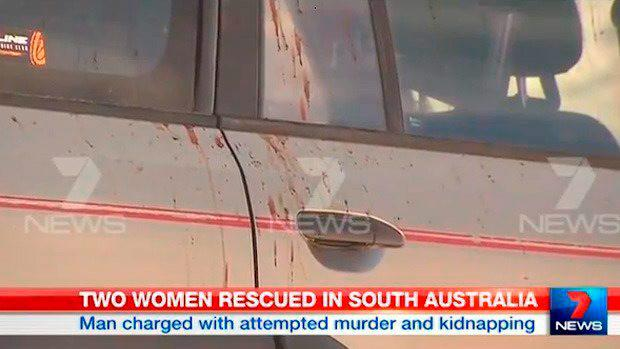 The fishermen's blood stained car