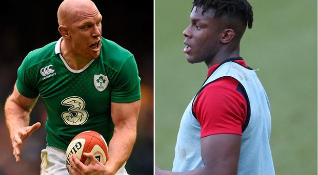 Paul O'Connell and (right) Maro Itoje