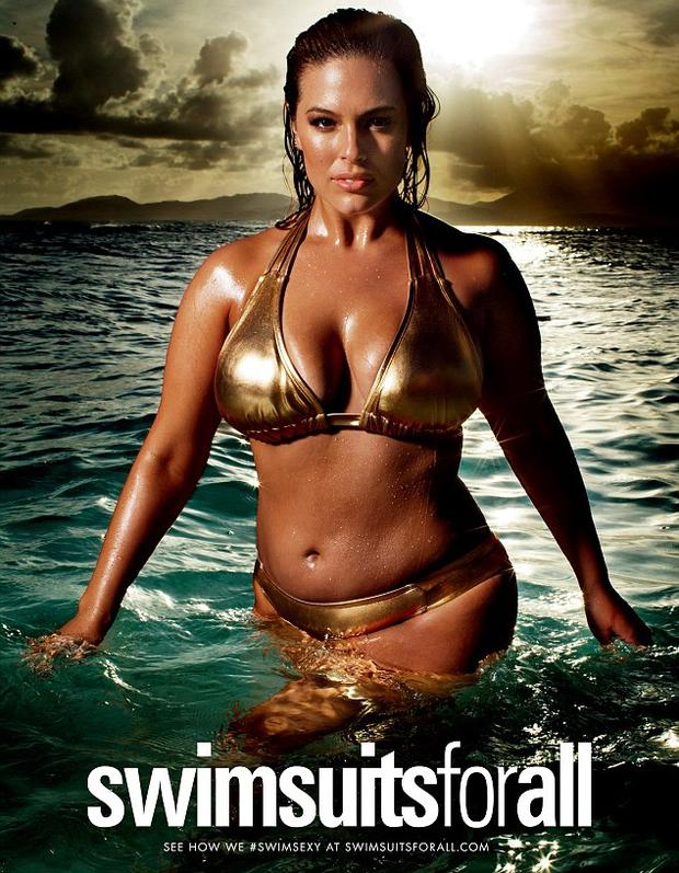 Ashley Graham stars in the Swimsuits for All campaign. Picture: Sports Illustrated
