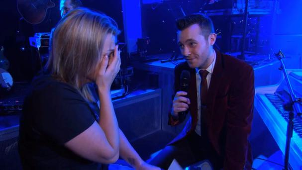 Nikki with Nathan Carter on Don't Tell the Bride, RTE 2