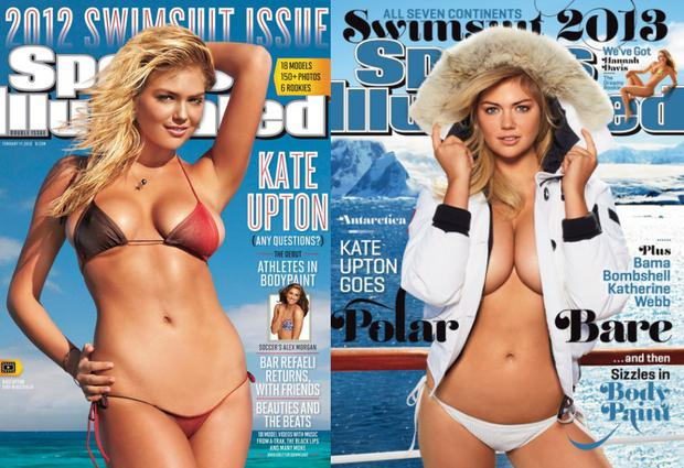 Kate Upton covered the Sports Illustrated Swimsuit Issue in 2012 and 2013