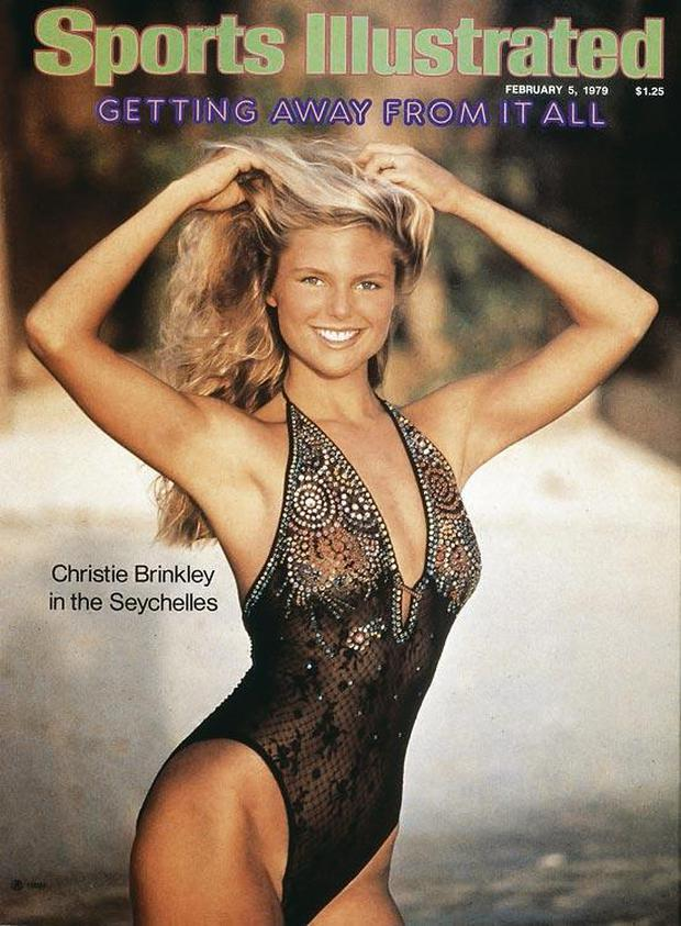Christie Brinkley covers the Sports Illustrated Swimsuit Issue in 1979