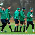 Ireland's players, from left, Dave Kearney, Donnacha Ryan, Rory Best, Sean O'Brien and Eoin Reddan