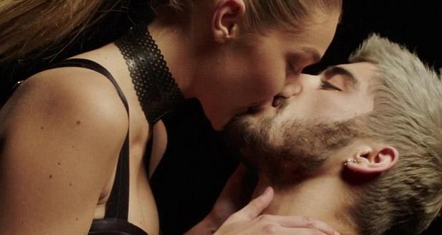 Gigi Hadid and Zayn Malik in his Pillowtalk video