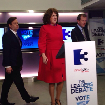 Joan Burton at the TV3/Newstalk debate tonight.