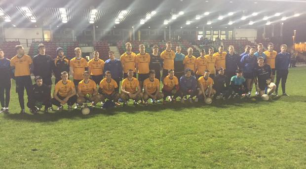 The DCU team that defeated IT Carlow in today's Sigerson Cup quarter-final
