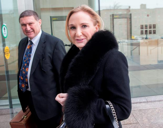 Gayle Killilea Dunne enters court in Connecticut for a hearing with NAMA in February 2013. Photo: Douglas Healey
