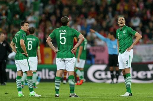 Ireland players react during dismal Euro 2012 campaign