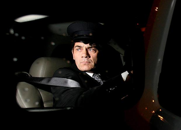 Gerry Hutch in his limo