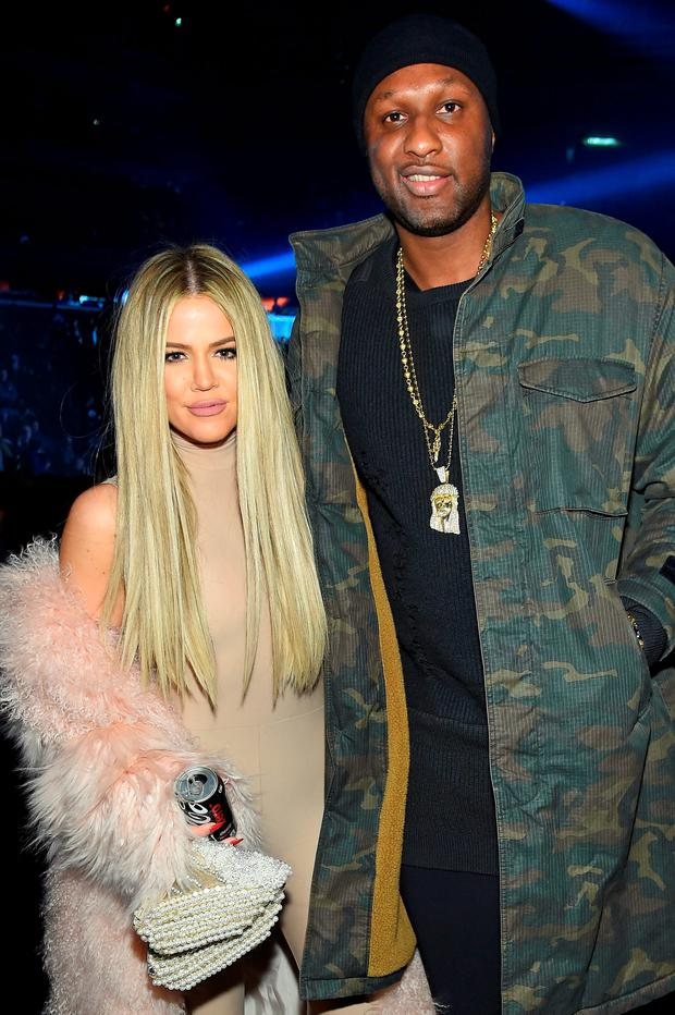 Khloe Kardashian and Lamar Odom attend Kanye West Yeezy Season 3 on February 11, 2016 in New York City. (Photo by Jamie McCarthy/Getty Images for Yeezy Season 3)