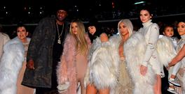 (L-R) Kris Jenner, Lamar Odom, Khloe Kardashian, Kylie Jenner, Kim Kardashian, Kendall Jenner, North West, and Kourtney Kardashian attend Kanye West Yeezy Season 3 on February 11, 2016 in New York City. (Photo by Jamie McCarthy/Getty Images for Yeezy Season 3)