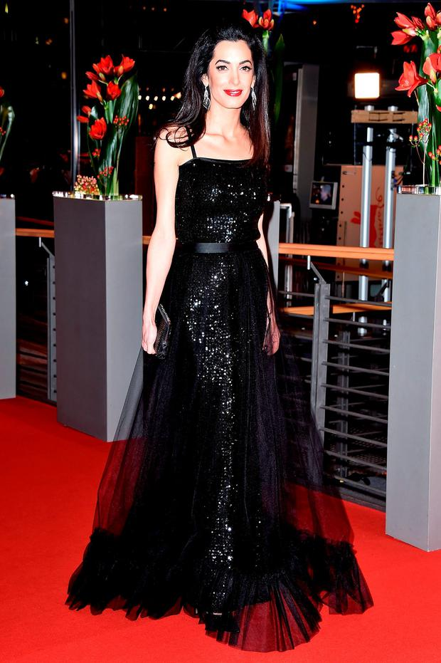 Amal Clooney attends the 'Hail, Caesar!' premiere during the 66th Berlinale International Film Festival Berlin at Berlinale Palace on February 11, 2016 in Berlin, Germany. (Photo by Pascal Le Segretain/Getty Images)