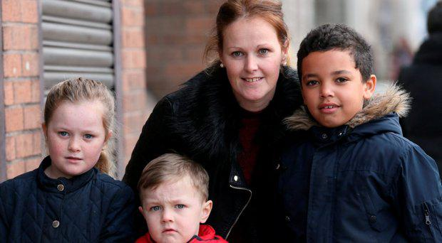 Janice Maguire with her children