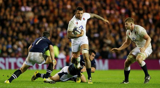 England's Courtney Lawes in action against Scotland last weekend