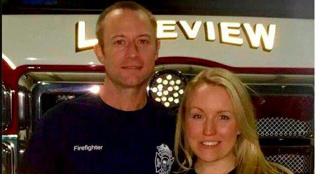 Ms Dohme fell in love with firefighter Cameron Hill, one of those who came to her rescue on the night of her attack
