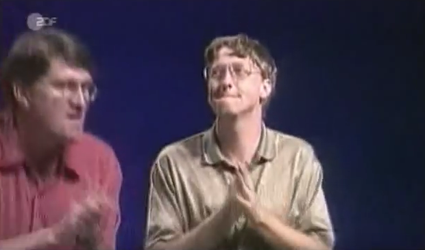 Bill Gates at the Windows 95 launch.