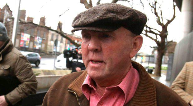 Thomas Murphy arrives for sentencing at the Special Criminal Court in Dublin