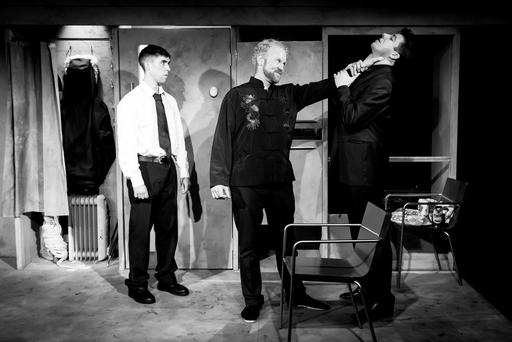Gangs: From left, Rex Ryan, Neil Fleming, and Edwin Mullane star in Made in China