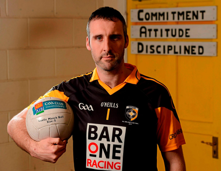 Paul Hearty will again be the last line of defence for Crossmaglen against Castlebar Mitchels today Photo: Sportsfile