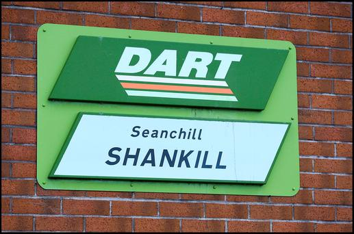 Shanhill Dart Station Dublin. Pic Steve Humphreys 11th February 2016.