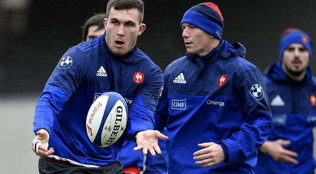 France's lock Paul Jedrasiak during a training session yesterday on the eve of their match against Ireland (Getty Images)
