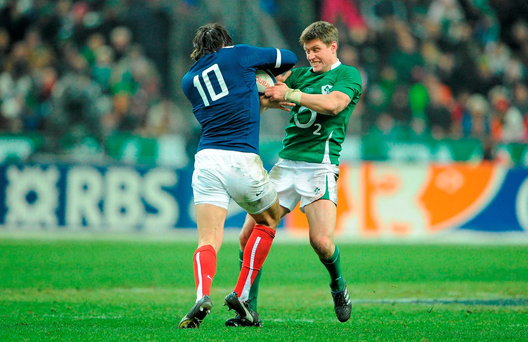 A new generation of players including the likes of Ronan O'Gara took the fear factor of Paris away by refusing to take a backward step (SPORTSFILE)