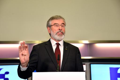Sinn Fein Leader Gerry Adams. Photo credit: Barbara Lindberg.