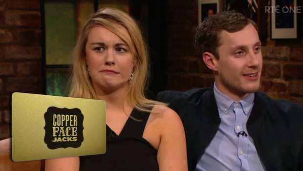 Amanda was gifted a gold card for Copper Face Jacks after her unsuccessful date on The Late Late Show