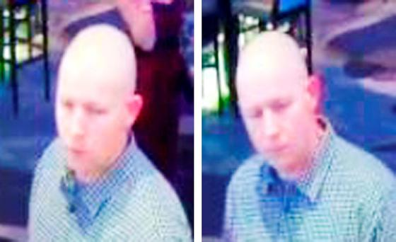 CCTV stills composite issued by Thames Valley Police of a man at Grosvenor Casino, Basingstoke Road, Reading, where a man has been left blind in one eye after an attack outside the casino Credit: Thames Valley Police/PA Wire