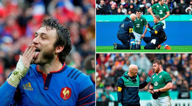 Ireland have been beaten at the Stade de France