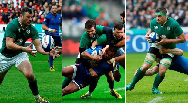 Who stood for Ireland on a disappointing day in Paris?