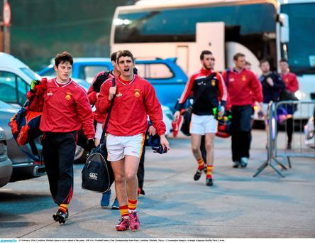 Castlebar Mitchels players arrive ahead of the game