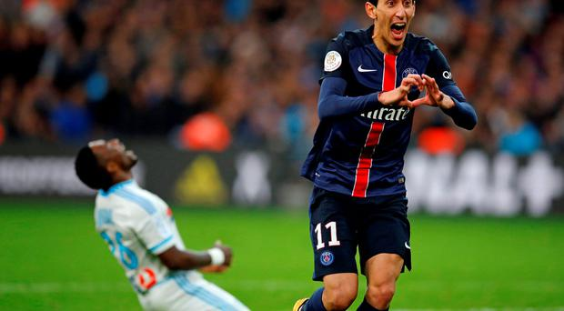 Angel di Maria: Pivotal cog at PSG. Photo: Reuters
