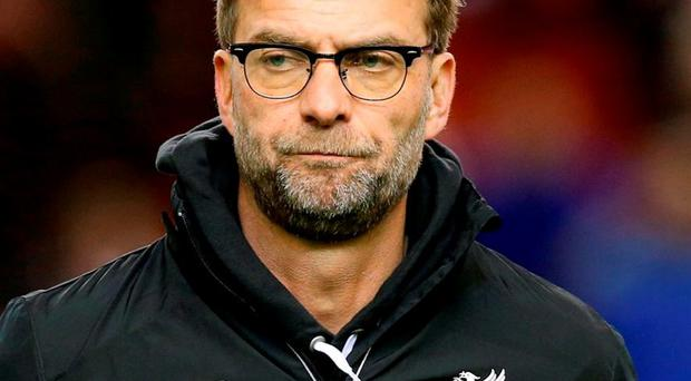 Liverpool manager Jurgen Klopp. Photo: Martin Rickett/PA Wire