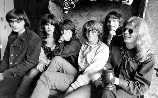 SHAPE SHIFTERS: Paul Kantner, fourth from left, with Jefferson Airplane bandmates (from left) Marty Balin, Grace Slick, Spencer Dryden, Jorma Kaukonen and Jack Casady