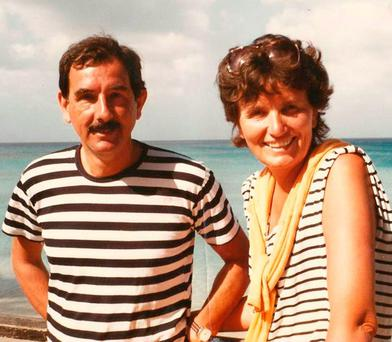 LITERARY UNION: Margaret Forster with her husband Hunter Davies, biographer of the Beatles, on holiday in 1986