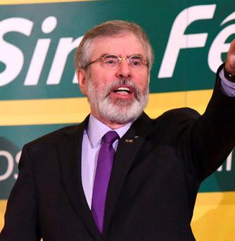 Sinn Fein leader Gerry Adams. Photo: Clodagh Kilcoyne/REUTERS
