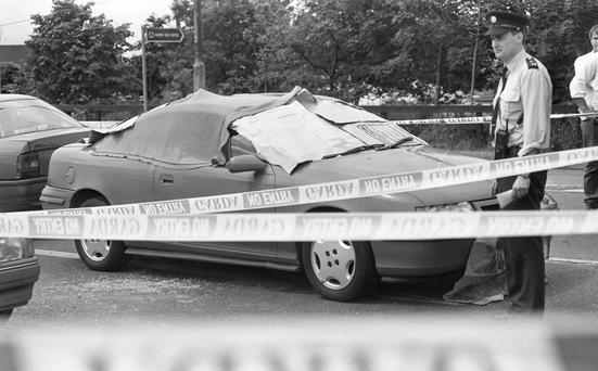 FATEFUL DAY: Journalist Veronica Guerin was killed while in her car on the Naas Road in June 1996