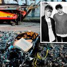 Scene of the incident. Inset: Viola Beach