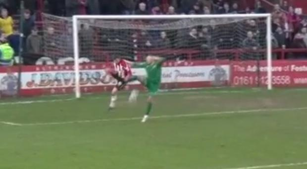 Paul Farnham really should have put his foot through the ball first time
