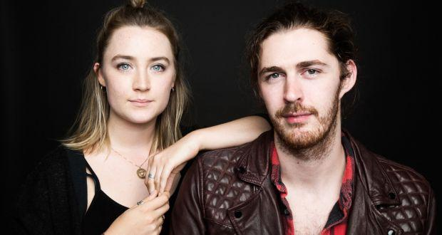Hozier pictured with Saoirse Ronan