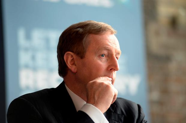 Taoiseach Enda Kenny speaking at the launch of Fine Gaels General Election Manifesto. The CHQ Building, Custom House Quay, Dublin. Picture: Caroline Quinn