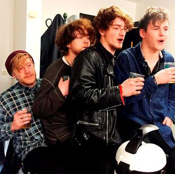 Viola Beach who have died, along with their manager, after the car they were travelling in plunged more than 80ft into a canal in Sweden Credit: @jholsson/PA Wire