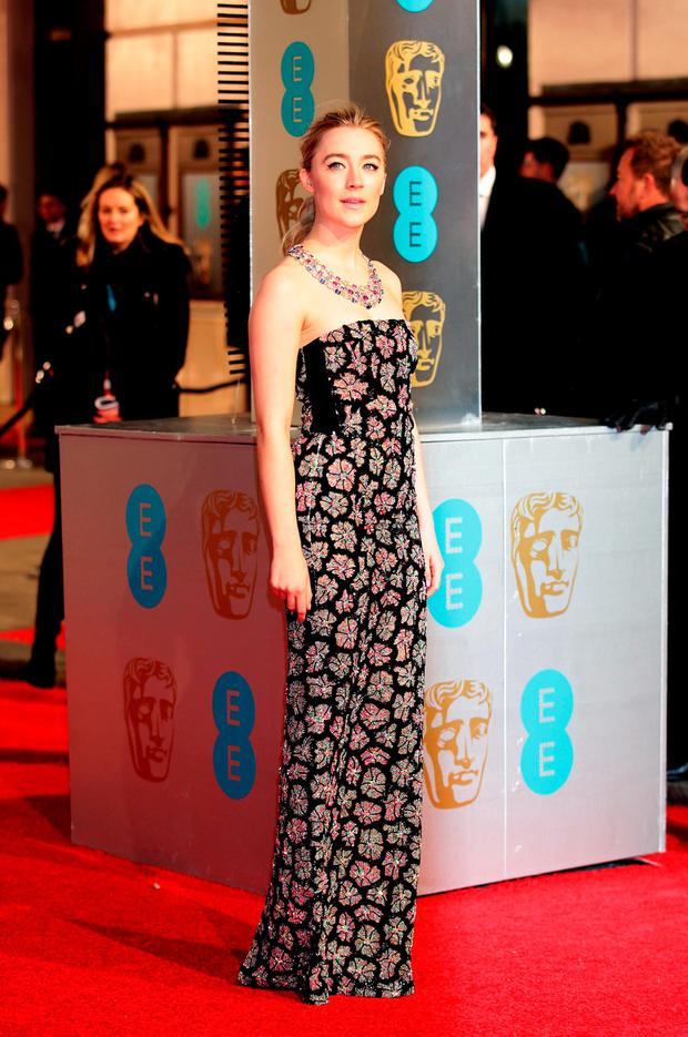Saoirse Ronan attending the EE British Academy Film Awards at the Royal Opera House, Bow Street, London