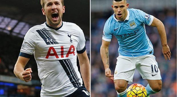 Harry Kane and Sergio Aguero