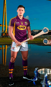 Antrim's Liam Watson pictured at the launch of the 2016 Allianz Hurling League Photo: Sportsfile