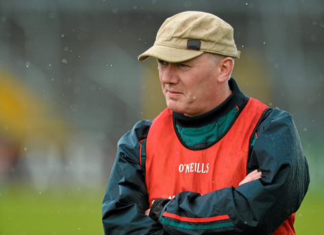 Carlow manager Pat English Photo: Sportsfile