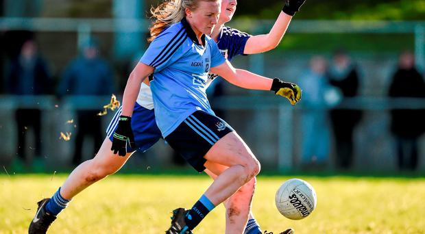Carla Rowe scored a brace of goals for Dublin against Monaghan Photo: Sportsfile