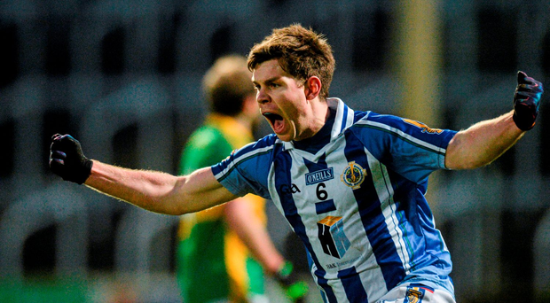 Ballyboden St Enda's Darragh Nelson celebrates after scoring a point to send the game into extra-time Photo: Sportsfile