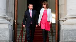 Taoiseach Enda Kenny TD & Tanaiste Joan Burton TD. Photo: Collins